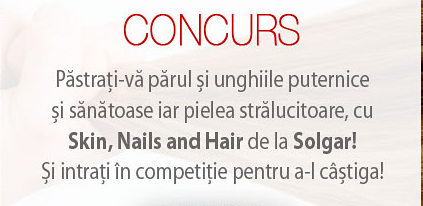 Concurs Solgar – Castiga un Skin, Nails and Hair Formula