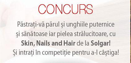 Concurs Solgar – Castiga un Skin, Nails and Hair Formula