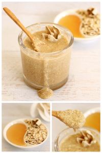 Oatmeal-honey-scrub
