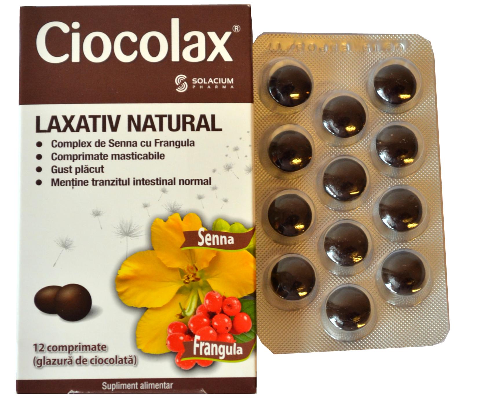 Ciocolax Laxativ Natural 12cpr
