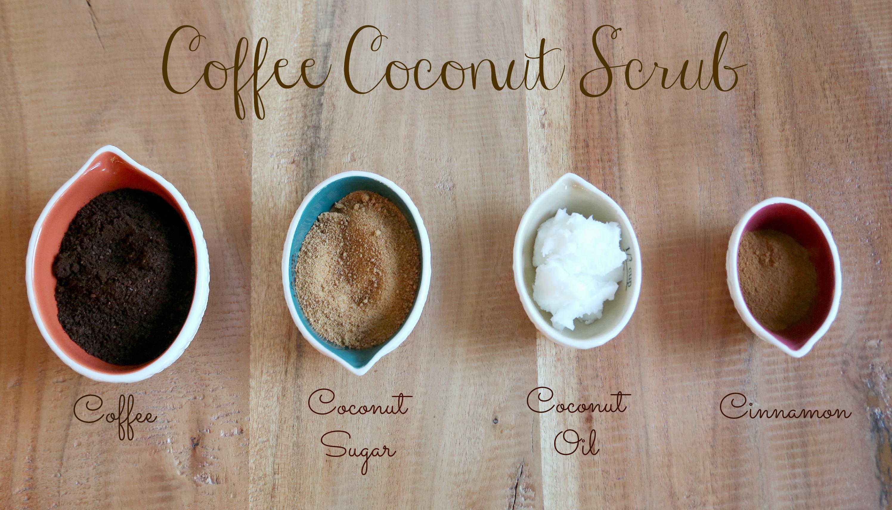 Scrub de corp cu ulei de cocos si cafea