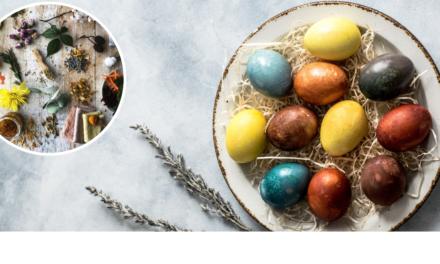 Cum coloram oua de Paste natural