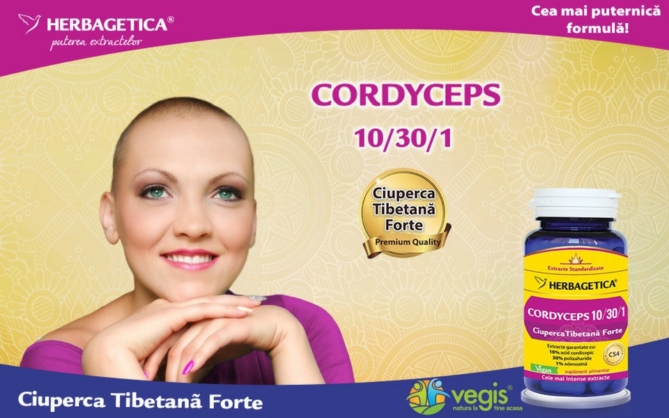 Cordyceps 10/30/1 Ciuperca Tibetana Forte de la Herbagetica