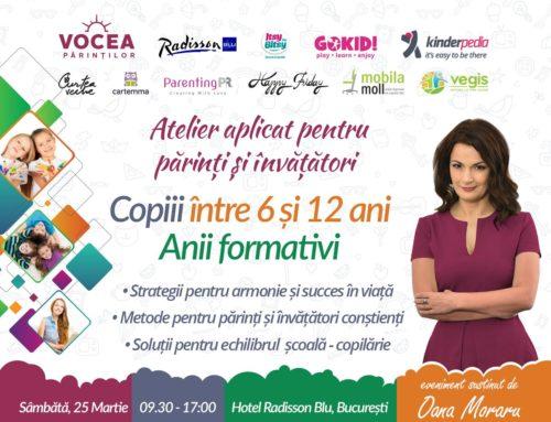 Vegis.ro sprijina educatia copiilor – Atelier Oana Moraru