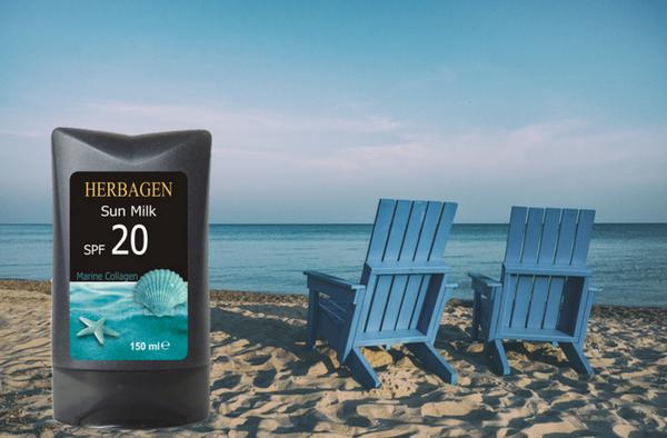 lapte plaja cu colagen marin Herbagen