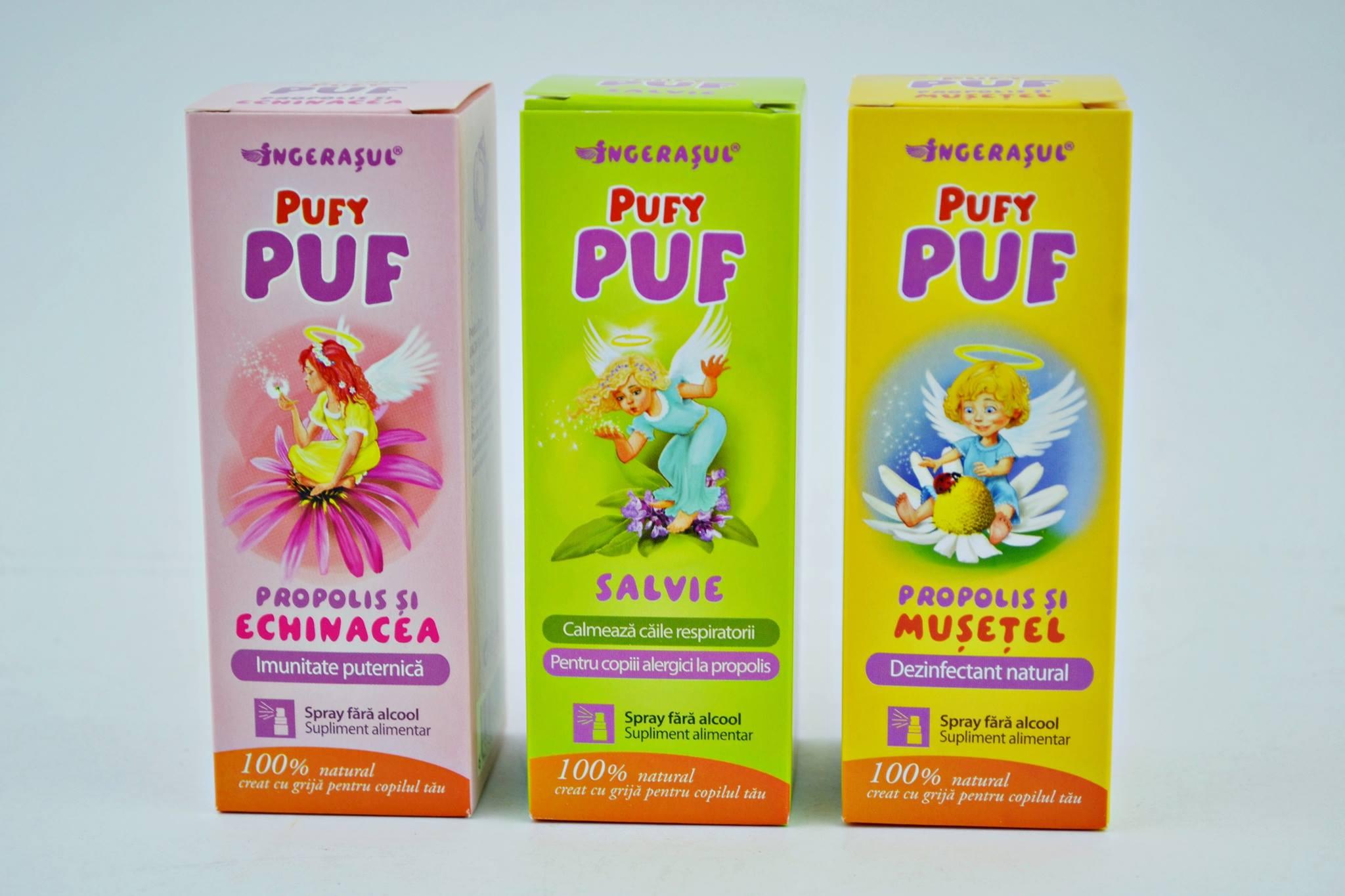 Pufy Puf: noua gamă de spray-uri Dacia Plant pentru micuţii îngeraşi!