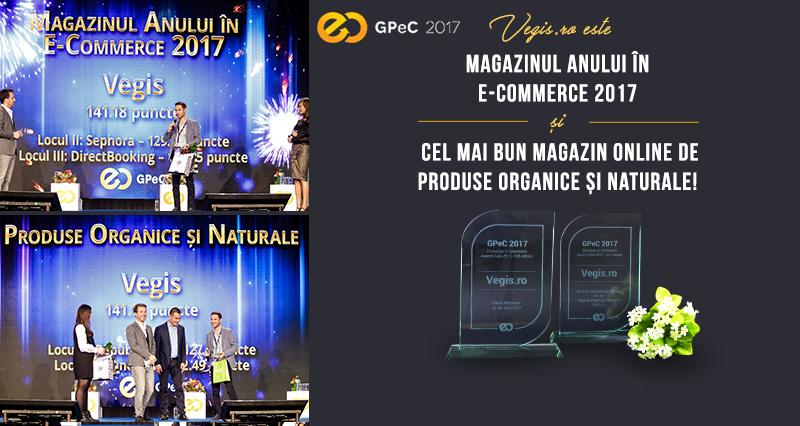 Vegis.ro – Magazinul Anului în E-Commerce 2017 și Cel Mai Bun Magazin Online de Produse Organice și Naturale