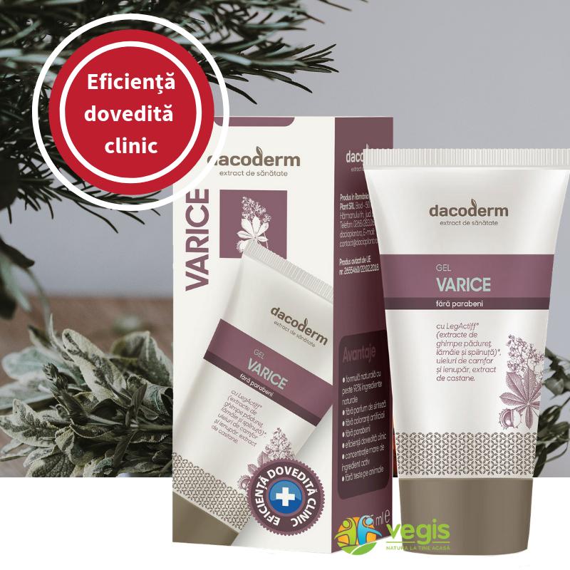 Crema pentru Varice Dacoderm cu complexul LegActiff - testat clinic in vivo
