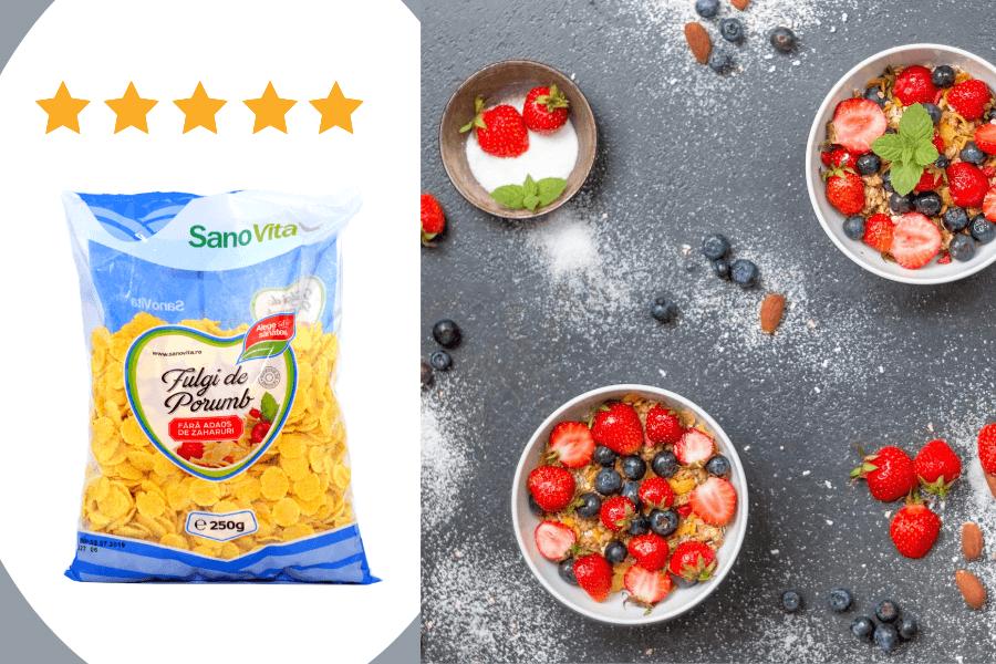 Alimente Sanovita: Fulgi de porumb fără zahăr