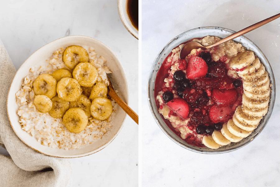 Porridge din fulgi de ovăz cu banane