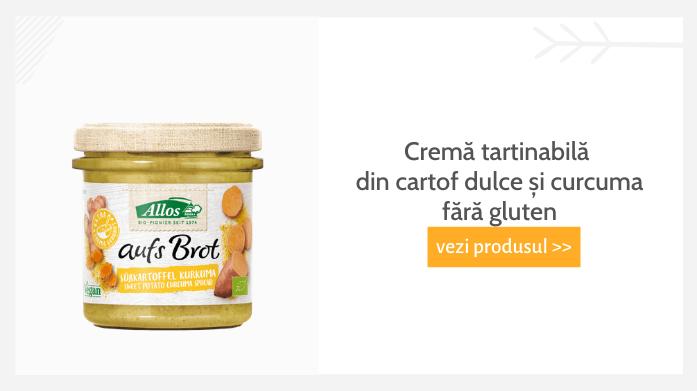 cremă tartinabilă din cartof dulce și curcuma