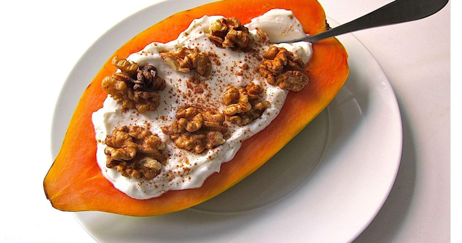 papaya cu iaurt