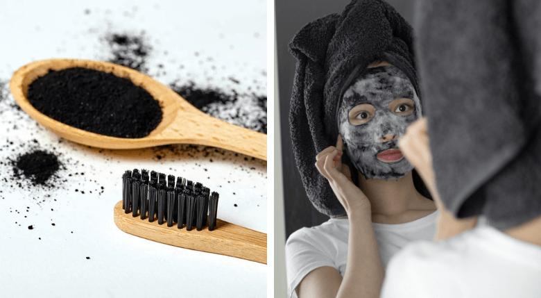 Pastă dinți și mască cu cărbune activ