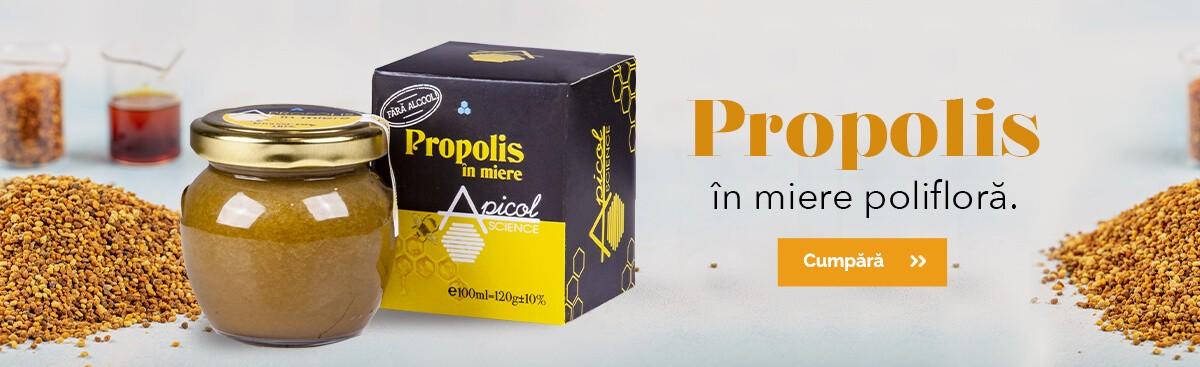 Propolis în miere polifloră