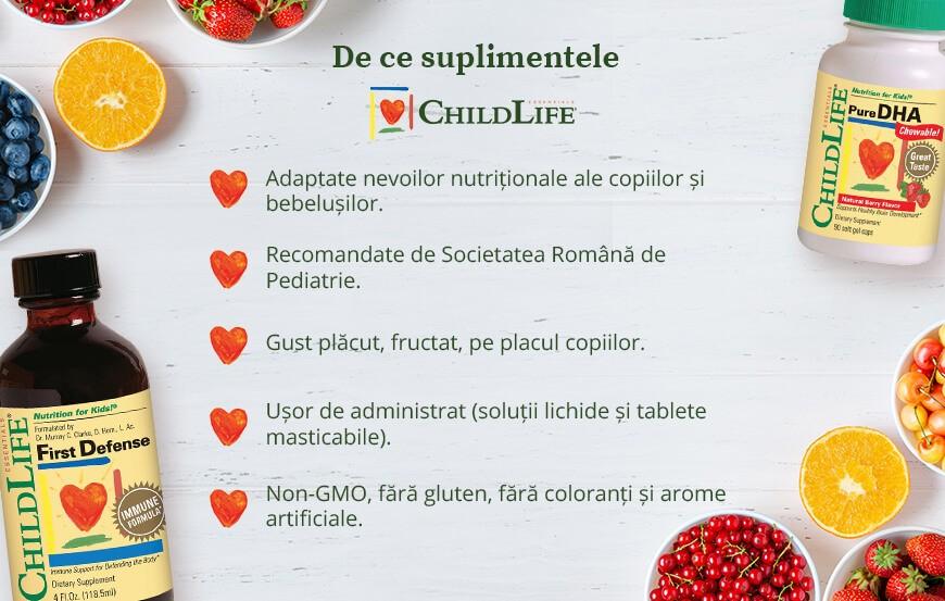 De ce sa alegi suplimentele ChildLife Essentials